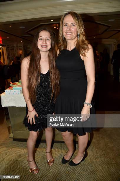 Ava Torres and Lisa Currie attend the launch of Second Bloom Cathy Graham's Art of the Table hosted by Joanna Coles and Clinton Smith at Bergdorf...