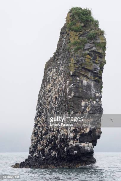 Avacha bay, rock formation, Kamchatka peninsula