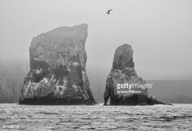 Avacha bay, rock formations, Kamchatka peninsula