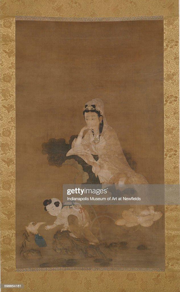 Avalokitesvara on lotus by an unknown Chinese artist 1700s Gift of Mrs John H Roberts Jr
