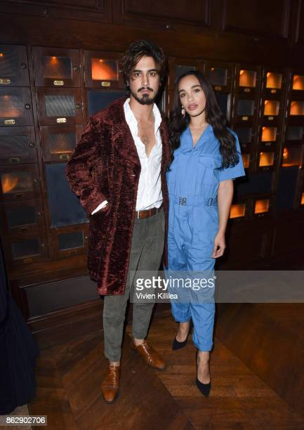Avan Jogia and Cleopatra Coleman attend The ELLE Super Bowl Presented by AG on October 13 2017 in Los Angeles California