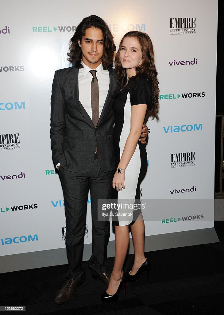 Avan Jogia and Zoey Deutch attend Reel Works 2012 Gala Benefit at The Edison Ballroom on October 10, 2012 in New York City.