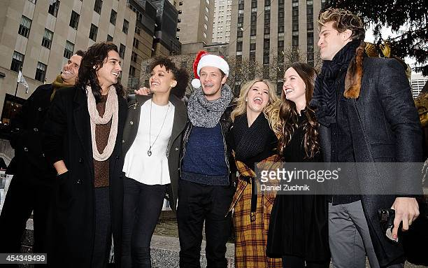 Avan Jogia Britne Oldford Brett Dier Sasha Pieterse Merritt Patterson and Keegan Allen attend 25 Days Of Christmas Winter Wonderland event at...