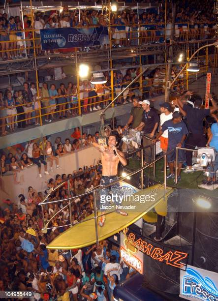 Avancini performs during the blocos parade at the Salvador Brazil 2003 Carnival