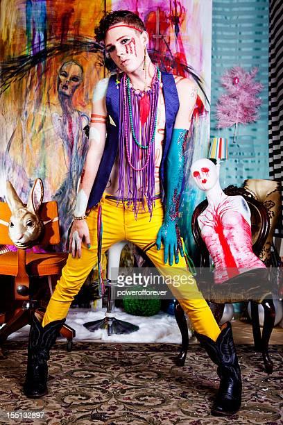 Avant-Garde Glam Punk Fashion