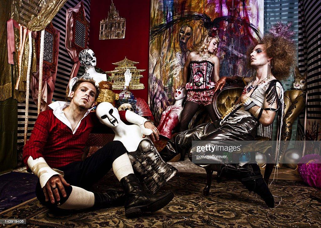 Avant-Garde Gothic Fashion : Stock Photo