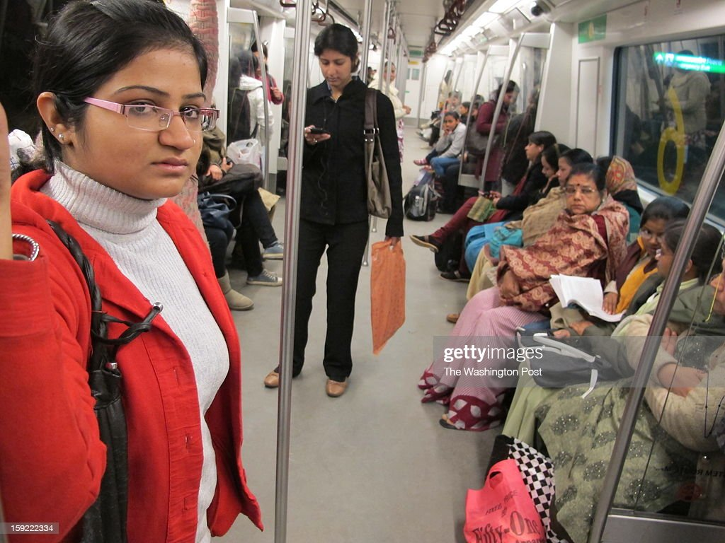 Avantika Shukla, 20, political science undergraduate student, on her way to evening classes in the Metro. She says the riding in the Metro is safest option for women because of its surveillance cameras and women-only coaches. For her, daily life in the Indian capital is peppered with a series of difficult decisions about what is safe and unsafe, where to go, what to wear and how to act. Safety is the bottomline of every single choice that she makes from the time she steps out of her home. Shukla took part in the angry demonstrations that followed the brutal gang-rape of a young woman last month in the Indian capital.