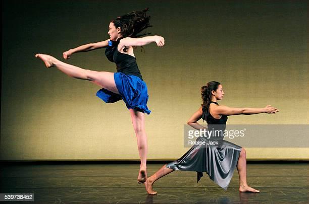 Avatara Ayuso and Navala Chaudhari in Shobana Jeyasingh's 'Just Add Water' at the Linbury Theatre Royal Opera House Covent Garden in London