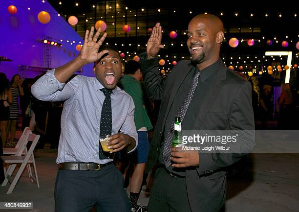 Avelawance Phillips and Jason Smith attend the Film Independent Member Reception during the 2014 Los Angeles Film Festival at the LA Live Event Deck...