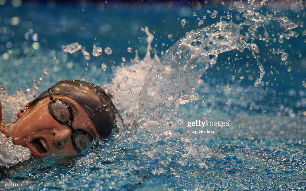 Avella Giacon of Brazil, who finished 8th, in action during the final of the womens 400m freestyle at the Aquatic Centre at Sydney Olympic Park Sports Centre on January 19, 2013 in Sydney, Australia.