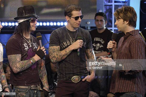 Avenge Sevenfold and VJ Steven during Bo Bice Raconteurs and Avenged Sevenfold Visit FUSE's 'Daily Download' April 4 2006 at FUSE Studios in New York...