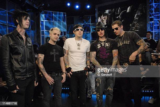 Avenge Sevenfold during Bo Bice Raconteurs and Avenged Sevenfold Visit FUSE's 'Daily Download' April 4 2006 at FUSE Studios in New York City New York...