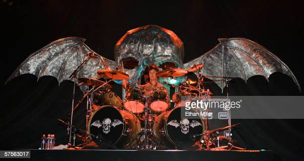 Avenged Sevenfold drummer The Rev performs during the Extreme Thing Festival at Desert Breeze Park April 29 2006 in Las Vegas Nevada The hard rock...