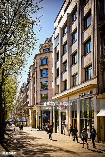 Avenue des Champs Elysees in Paris, France
