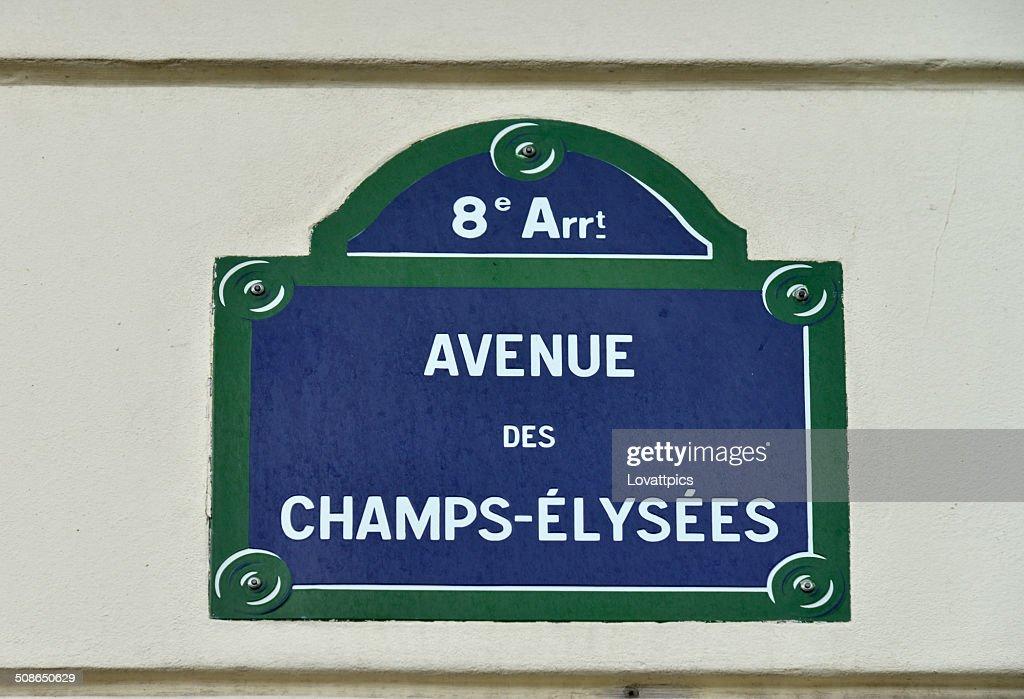 Avenue des Champs-Elysees. France,paris, : Stock Photo