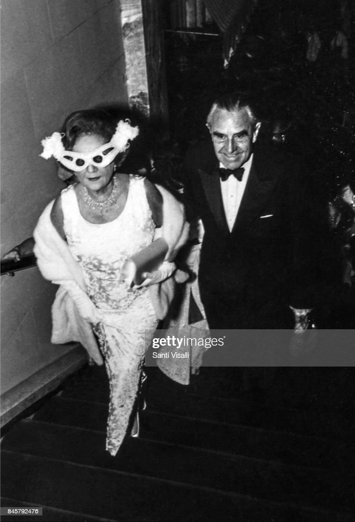 Averell Harriman with wife Matie at Truman Capote BW Ball on November 28, 1966 in New York, New York.