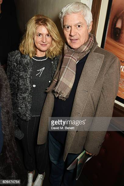 Avery Agnelli and John Frieda attend a VIP screening of 'Untitled' at the Prince Charles Cinema on November 29 2016 in London England