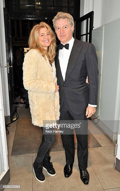 Avery Agnelli and John Frieda attend as the Christmas lights are switched on at Stella McCartney on December 4 2013 in London England