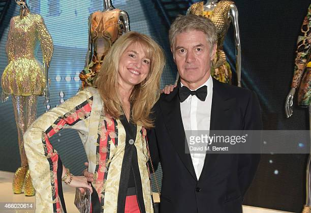 Avery Agnelli and John Frieda attend the Alexander McQueen Savage Beauty Fashion Gala at the VA presented by American Express and Kering on March 12...