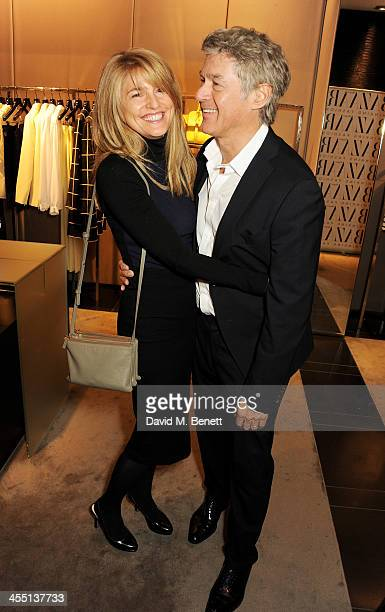 Avery Agnelli and John Frieda attend the ESCADA/Harper's Bazaar book reading with Fatima Bhutto reading from her novel 'The Shadow Of The Crescent...