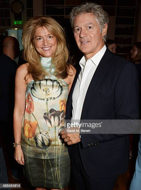 Avery Agnelli and John Frieda attend The London 2014 Stella McCartney Green Carpet Collection during London Fashion Week at The Royal British...