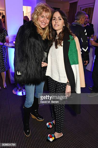 Avery Agnelli and Tania Fares attend a cast and crew screening of 'This Beautiful Fantastic' at BAFTA on February 5 2016 in London England