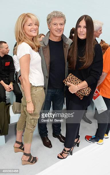 Avery Agnelli John Frieda and Elizabeth Saltzman Walker attend the Hunter Original SS 2015 catwalk show at on September 13 2014 in London England