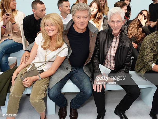 Avery Agnelli John Frieda and Richard Buckley attend the Hunter Original SS 2015 catwalk show at on September 13 2014 in London England