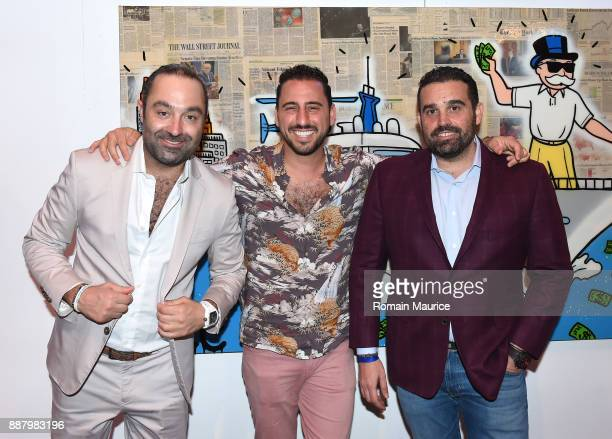 Avery Andon Josh Altman and Seth Leminof attend Haute Living's VIP PopUp Opening of Alec Monopoly from Art Life and David Yarrow from Maddox Gallery...