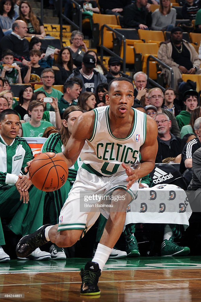 <a gi-track='captionPersonalityLinkClicked' href=/galleries/search?phrase=Avery+Bradley&family=editorial&specificpeople=5792051 ng-click='$event.stopPropagation()'>Avery Bradley</a> #0 of the Boston Celtics drives against the Charlotte Bobcats on April 11, 2014 at the TD Garden in Boston, Massachusetts.