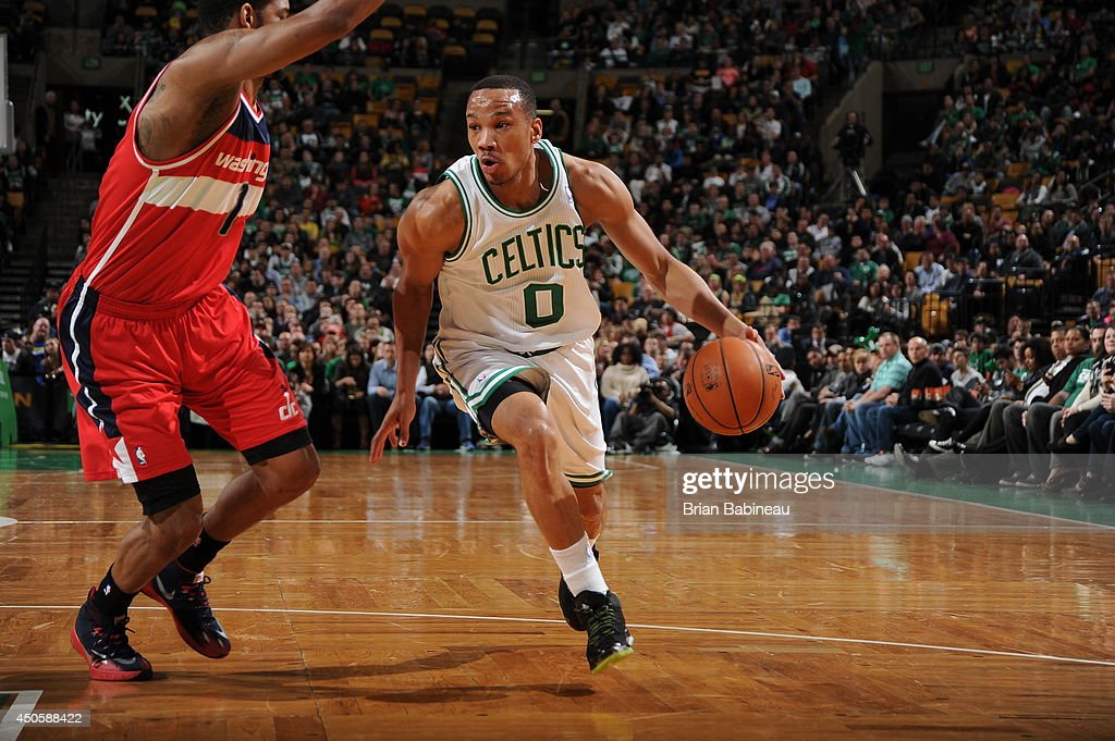 <a gi-track='captionPersonalityLinkClicked' href=/galleries/search?phrase=Avery+Bradley&family=editorial&specificpeople=5792051 ng-click='$event.stopPropagation()'>Avery Bradley</a> #0 of the Boston Celtics drives to the basket against the Washington Wizards on April 16, 2014 at the TD Garden in Boston, Massachusetts.