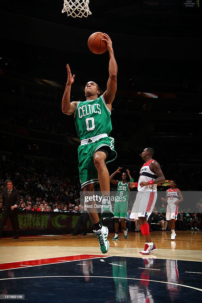 <a gi-track='captionPersonalityLinkClicked' href=/galleries/search?phrase=Avery+Bradley&family=editorial&specificpeople=5792051 ng-click='$event.stopPropagation()'>Avery Bradley</a> #0 of the Boston Celtics goes to the basket during the game between the Washington Wizards and the Boston Celtics at the Verizon Center on January 22, 2012 in Washington, DC.