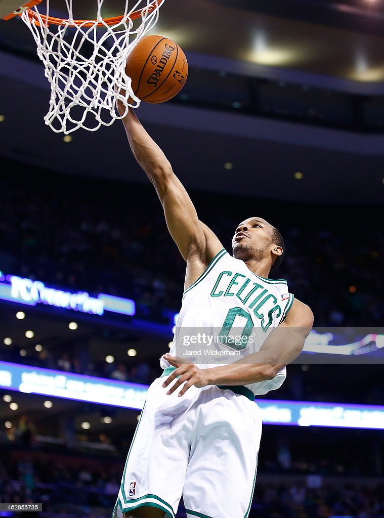 <a gi-track='captionPersonalityLinkClicked' href=/galleries/search?phrase=Avery+Bradley&family=editorial&specificpeople=5792051 ng-click='$event.stopPropagation()'>Avery Bradley</a> #0 of the Boston Celtics goes up for a layup against the Toronto Raptors during the game at TD Garden on January 15, 2014 in Boston, Massachusetts.