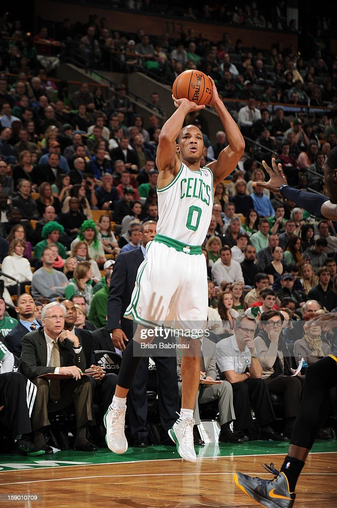 <a gi-track='captionPersonalityLinkClicked' href=/galleries/search?phrase=Avery+Bradley&family=editorial&specificpeople=5792051 ng-click='$event.stopPropagation()'>Avery Bradley</a> #0 of the Boston Celtics shoots against the Indiana Pacers on January 4, 2013 at the TD Garden in Boston, Massachusetts.