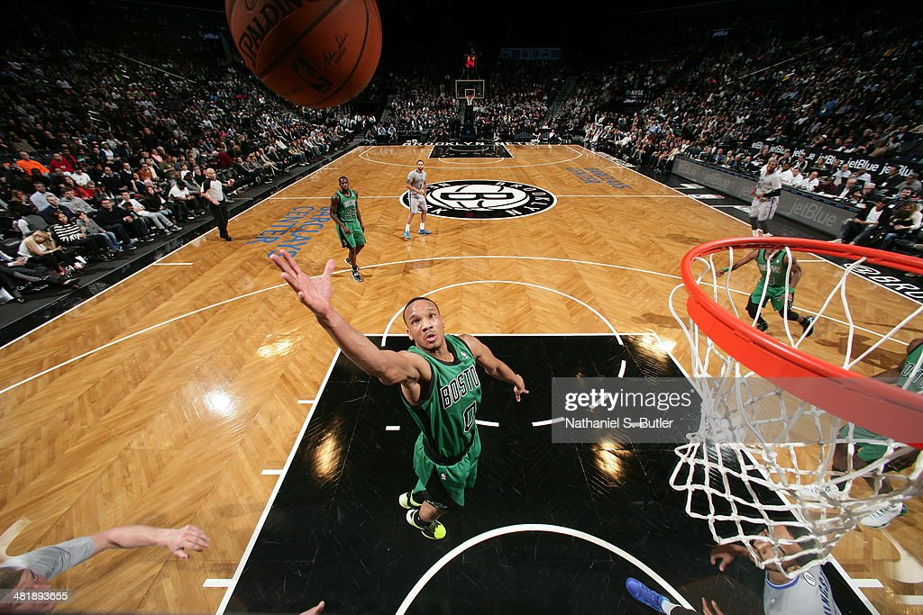 <a gi-track='captionPersonalityLinkClicked' href=/galleries/search?phrase=Avery+Bradley&family=editorial&specificpeople=5792051 ng-click='$event.stopPropagation()'>Avery Bradley</a> #0 of the Boston Celtics takes a shot against the Brooklyn Nets at the Barclays Center on March 21, 2014 in the Brooklyn borough of New York City.