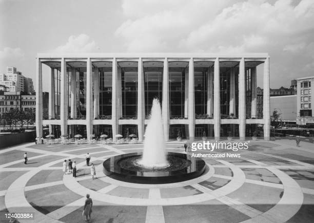 Avery Fisher Hall at the Lincoln Center for the Performing Arts New York City circa 1965 The building is the home of the New York Philharmonic...