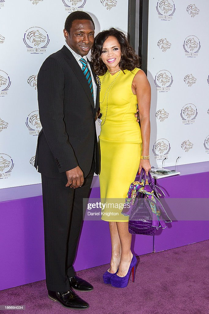 Avery Johnson and Cassandra Johnson arrive at the 30th Annual Breeder's Cup 'Songs in the Saddle' concert at Santa Anita Park Racetrack on November 2...