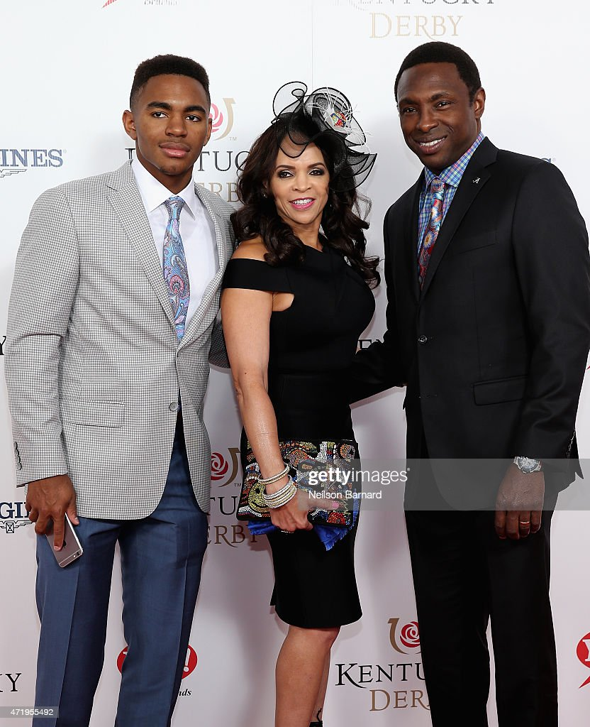 Avery Johnson Jr Cassandra Johnson and basketball coach Avery Johnson attend the 141st Kentucky Derby at Churchill Downs on May 2 2015 in Louisville...
