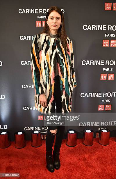Avery McCall attends the UNIQLO Fall/Winter 2016 Carine Roitfeld collection launch at UNIQLO on October 26 2016 in New York City