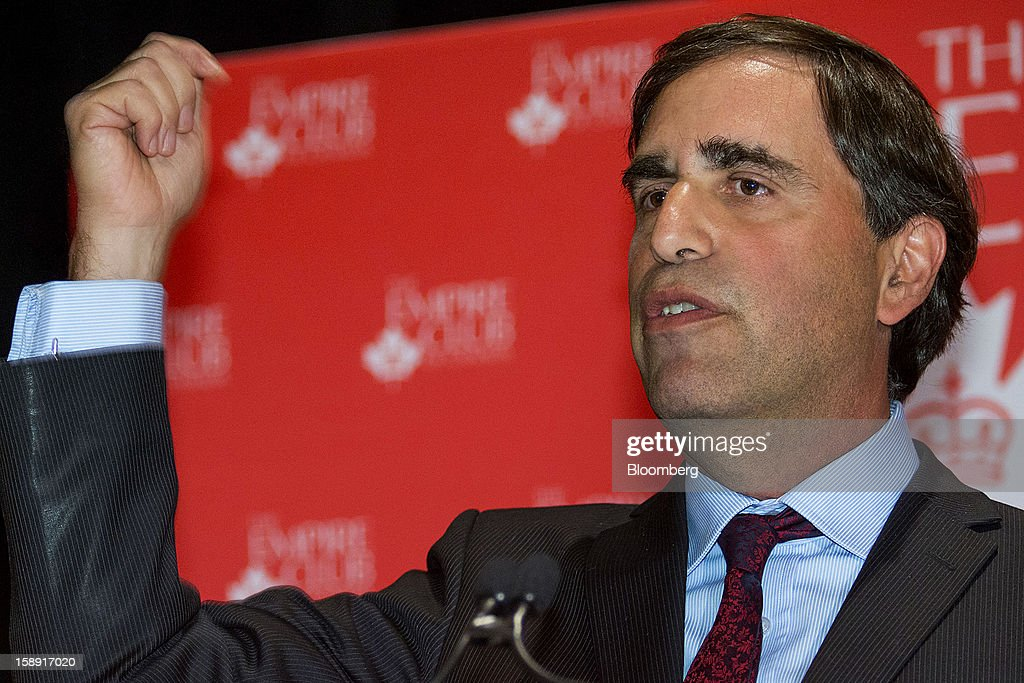 Avery Shenfeld, chief economist of Canadian Imperial Bank of Commerce, speaks during an event discussing Canada's economic outlook at the Empire Club of Canada in Toronto, Ontario, Canada, on Thursday, Jan. 3, 2013. The Canadian dollar fell the most in almost two weeks against its U.S. counterpart after the U.S. central bank revealed it may end monetary stimulus as early as this year, allowing the currency to appreciate.Photographer: Norm Betts/Bloomberg via Getty Images