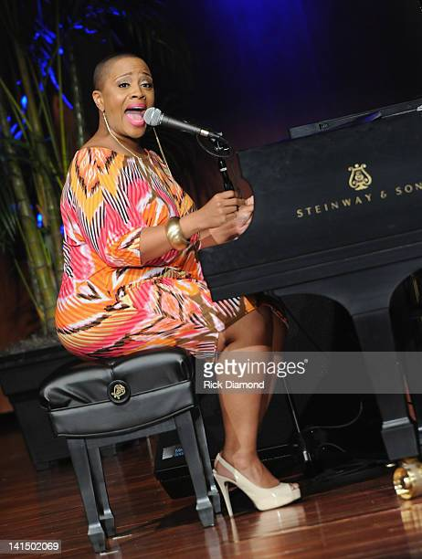 Avery Sunshine performs at the Not Alone Foundation Second Biennial Diamond Awards at Morehouse College Ray Charles Performing Arts Center on March...