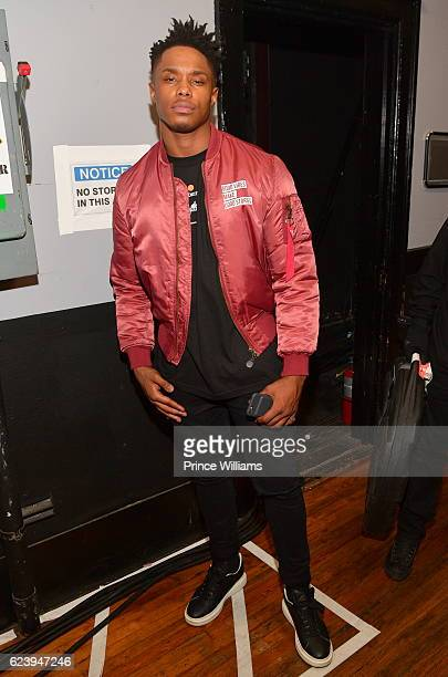 Avery Wilson backstage at the PartyNextDoor and Jeremih Summer's Over Tour at The Tabernacle on November 14 2016 in Atlanta Georgia