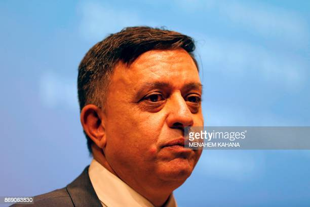 Avi Gabbay head of the opposition Labour party speaks at a conference of Israeli think tank Mitvim the Israeli Institute for Regional Foreign...