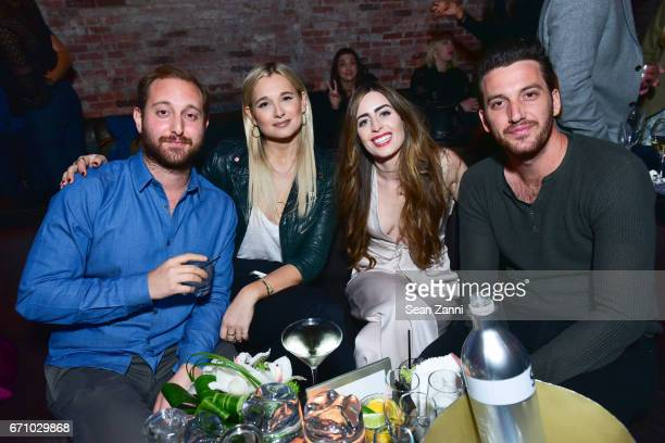 Avi Stern Danielle Bernstein Emily Siegel and Joshua Stern attend the after party of the premiere of FLOWER for the Tribeca Film Festival at TAO...