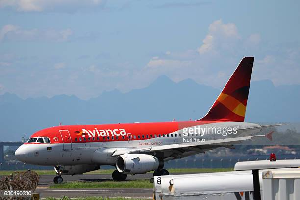 Avianca airplane at Santos Dumont Airport in Rio de Janeiro Brazil on 23 December 2016 With the festivities of Christmas and New Year the movement in...
