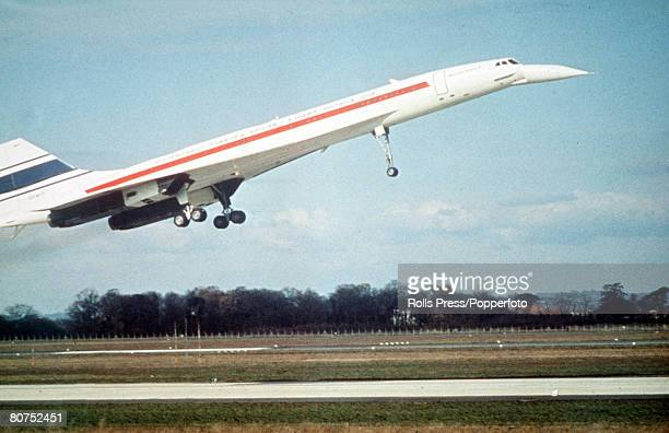 Aviation Concorde on its maiden flight the first commercial supersonic airliner of AngloFrench construction it is capable of over 2160 km per hour
