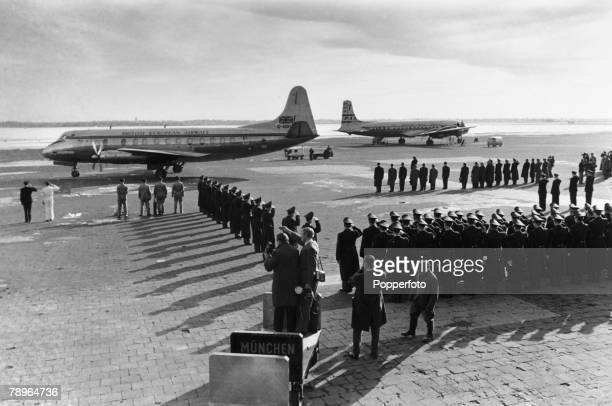 11th February 1958 The BEA aircraft carrying the coffins of the victims of the crash at Munich in which 23 people died 8 being Manchester United...