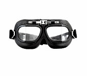 Aviator style goggles on white background