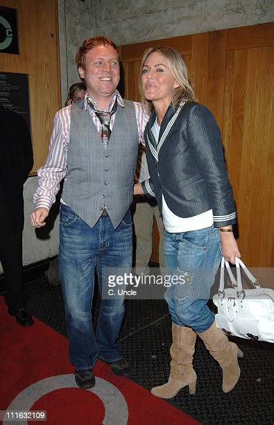 Avid Merrion and Patsy Kensit during 'Team America World Police' London DVD Release Party at CC Club in London Great Britain