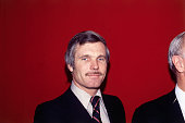 Avid sports fan and media mogul Ted Turner who would go on to launch CNN and the Turner Network Television gives a youthful smile